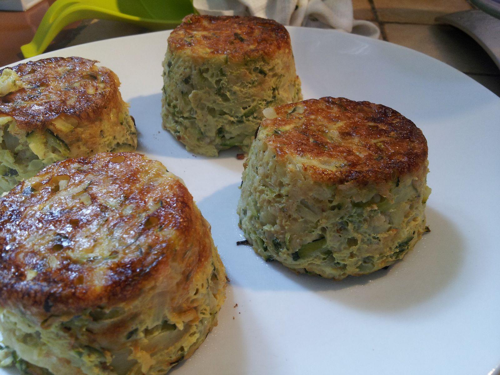 muffins flocon d'avoine courgettes et oignon