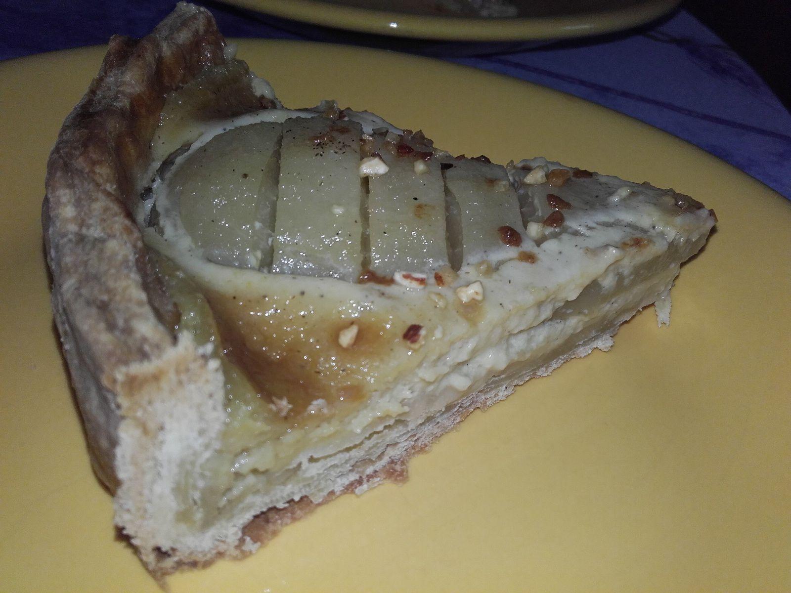 tarte aux poires vanillées