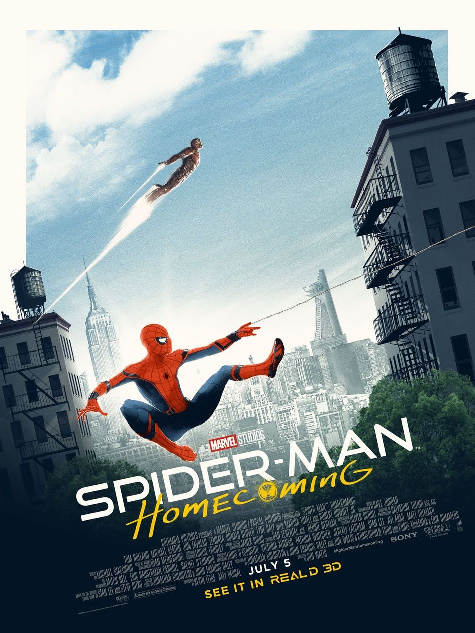 Iron Man sur l'affiche de Spider-Man Housecoming