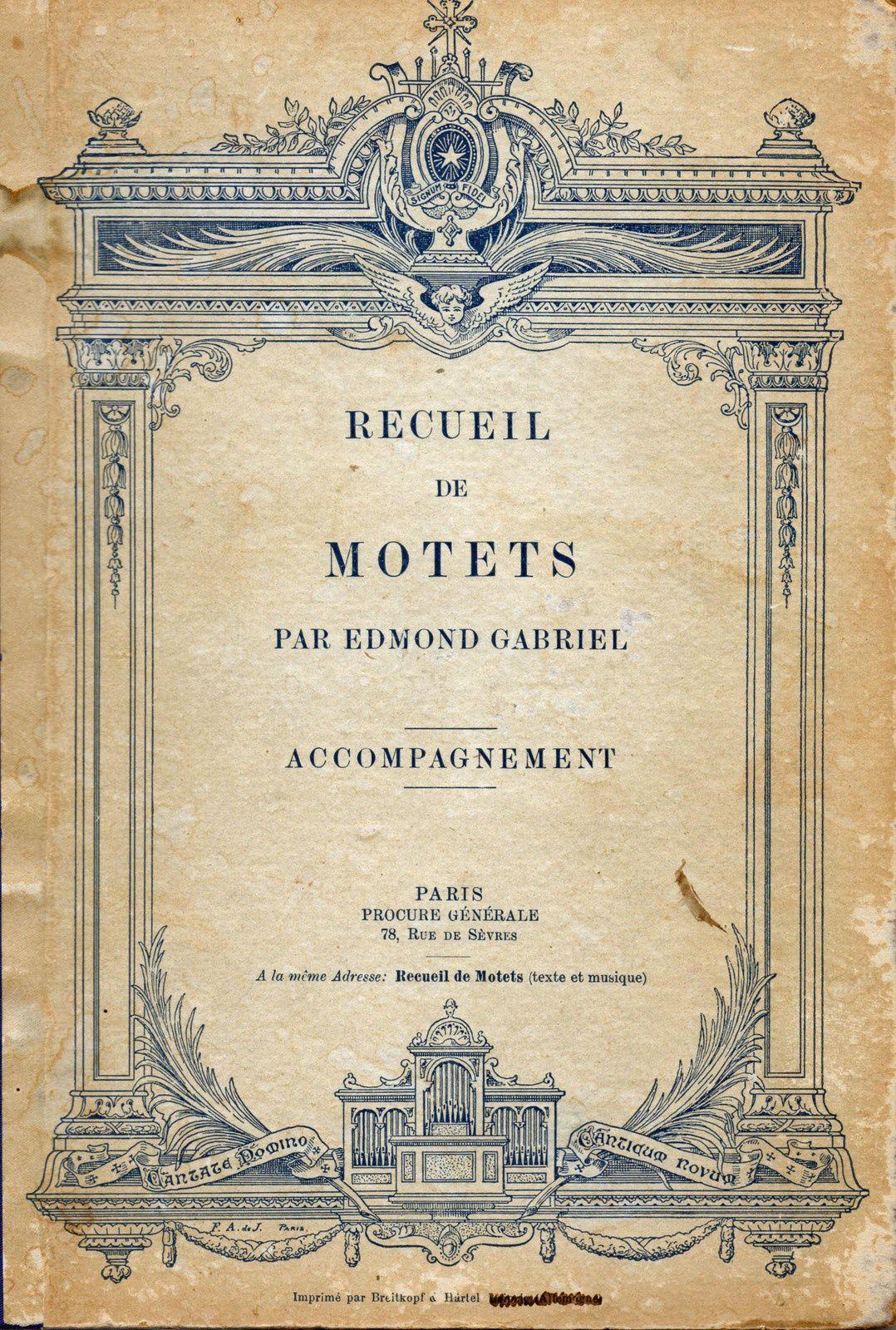 Recueil de motets par Edmond Gabriel