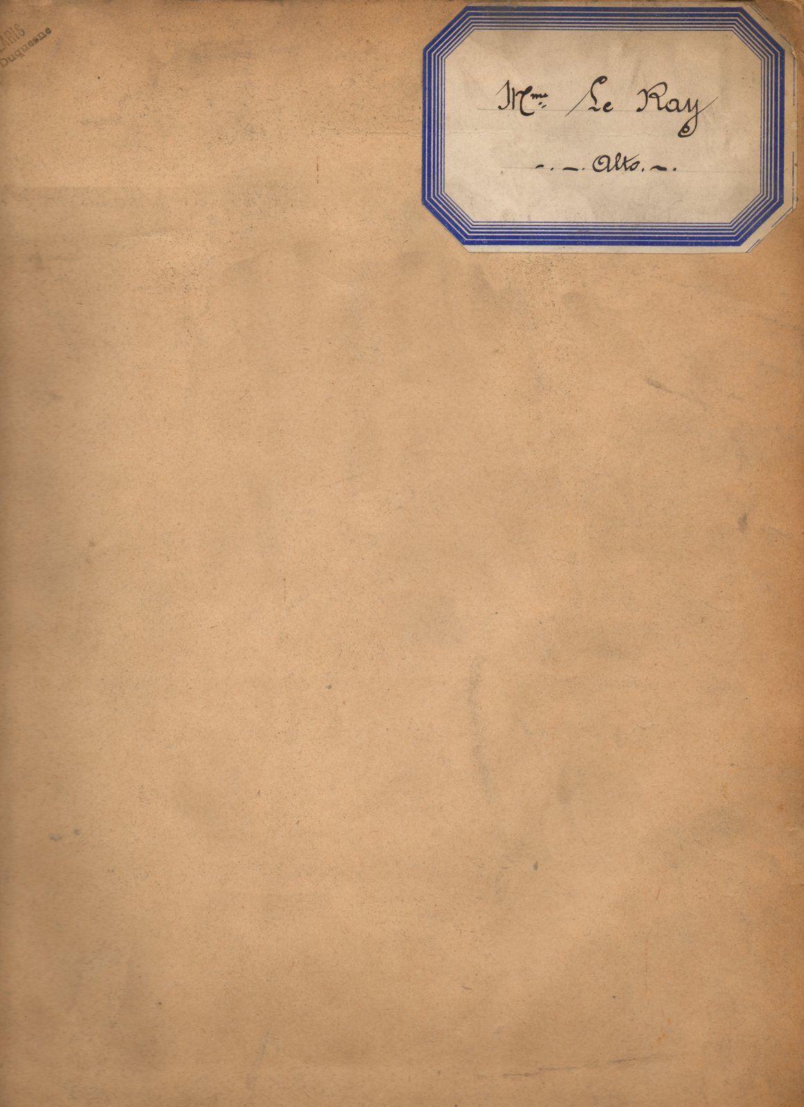 Vêpres du Saint Jour de Pâques selon le rite parisien (1934, 1935 et 1936)