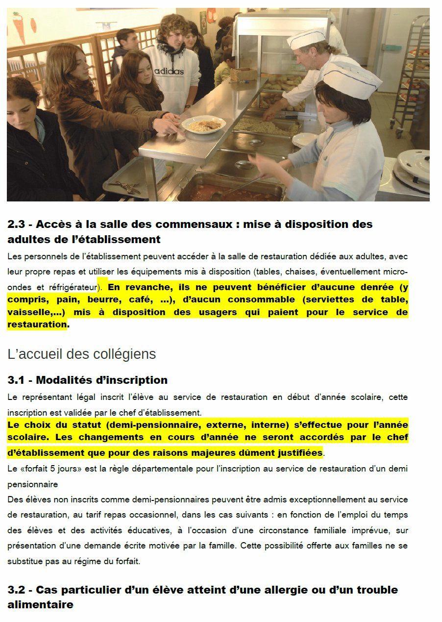 nouveau règlement départemental des services de restauration