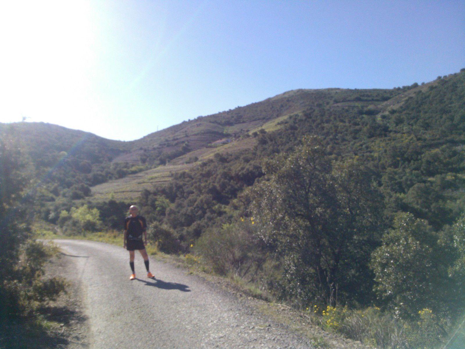 Collioure et vues de derrière chez nous sur notre trajet de course