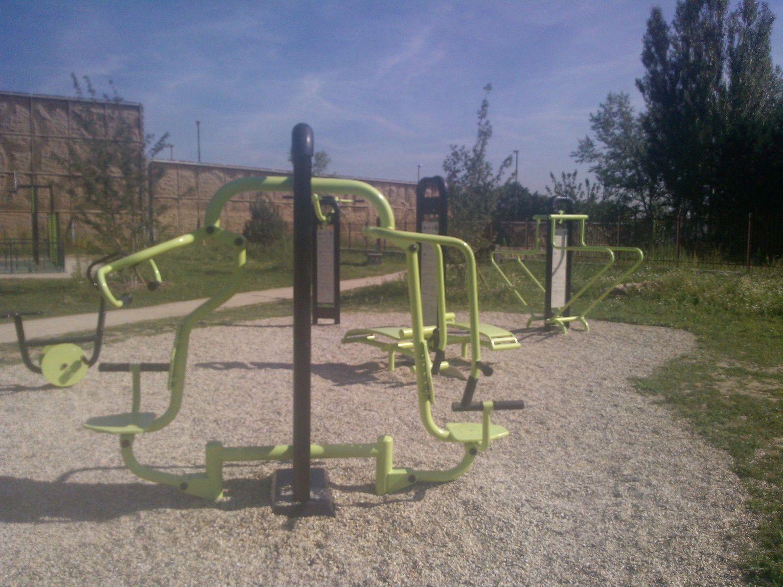 Ballade et muscu au parc des Alisiers à Antony