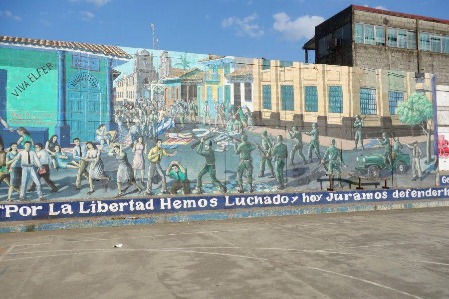 Fresque murale relative aux événements du 23 juillet 1959