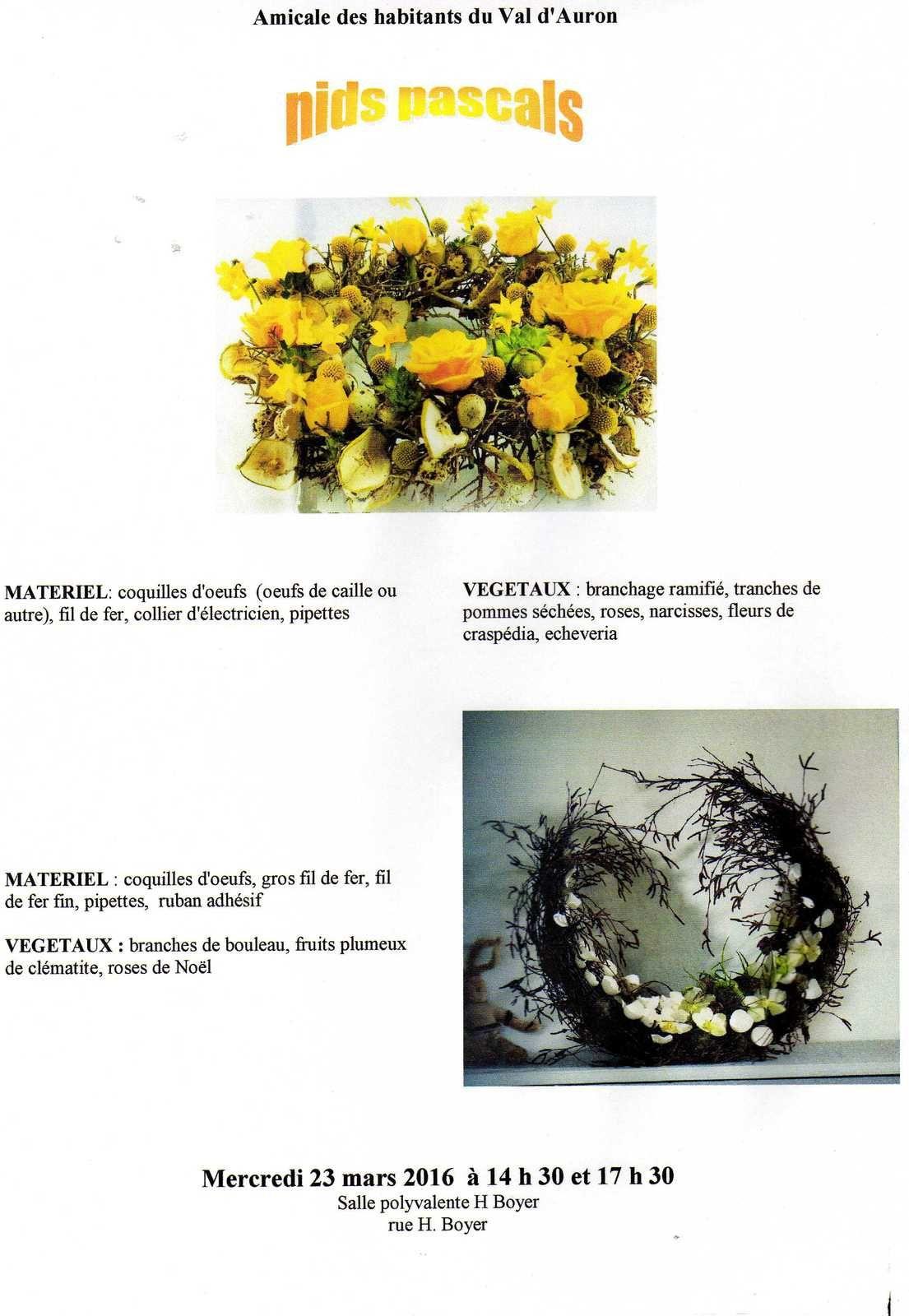 Atelier déco florale