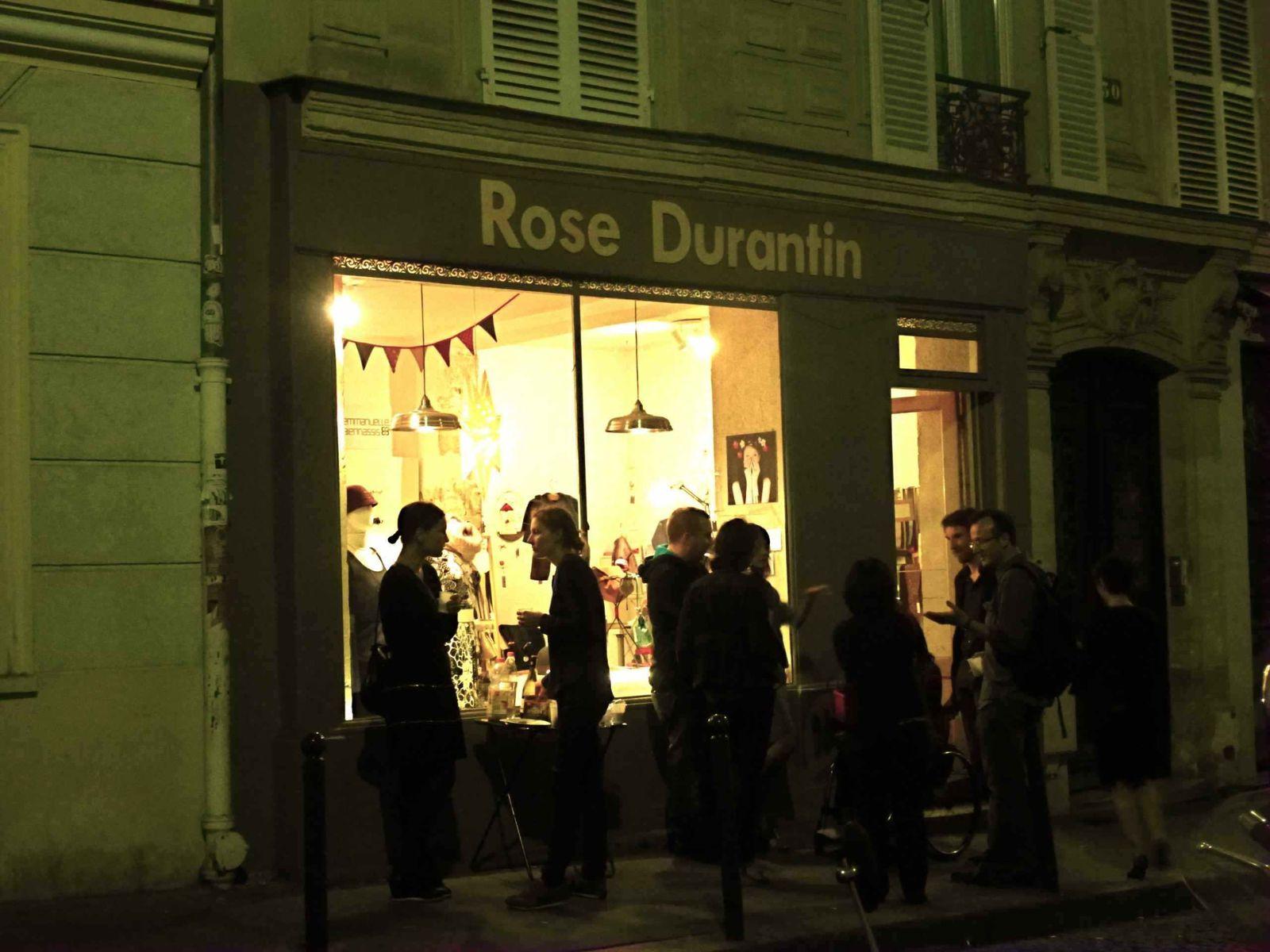 soirée-vernissage chez Rose Durantin...