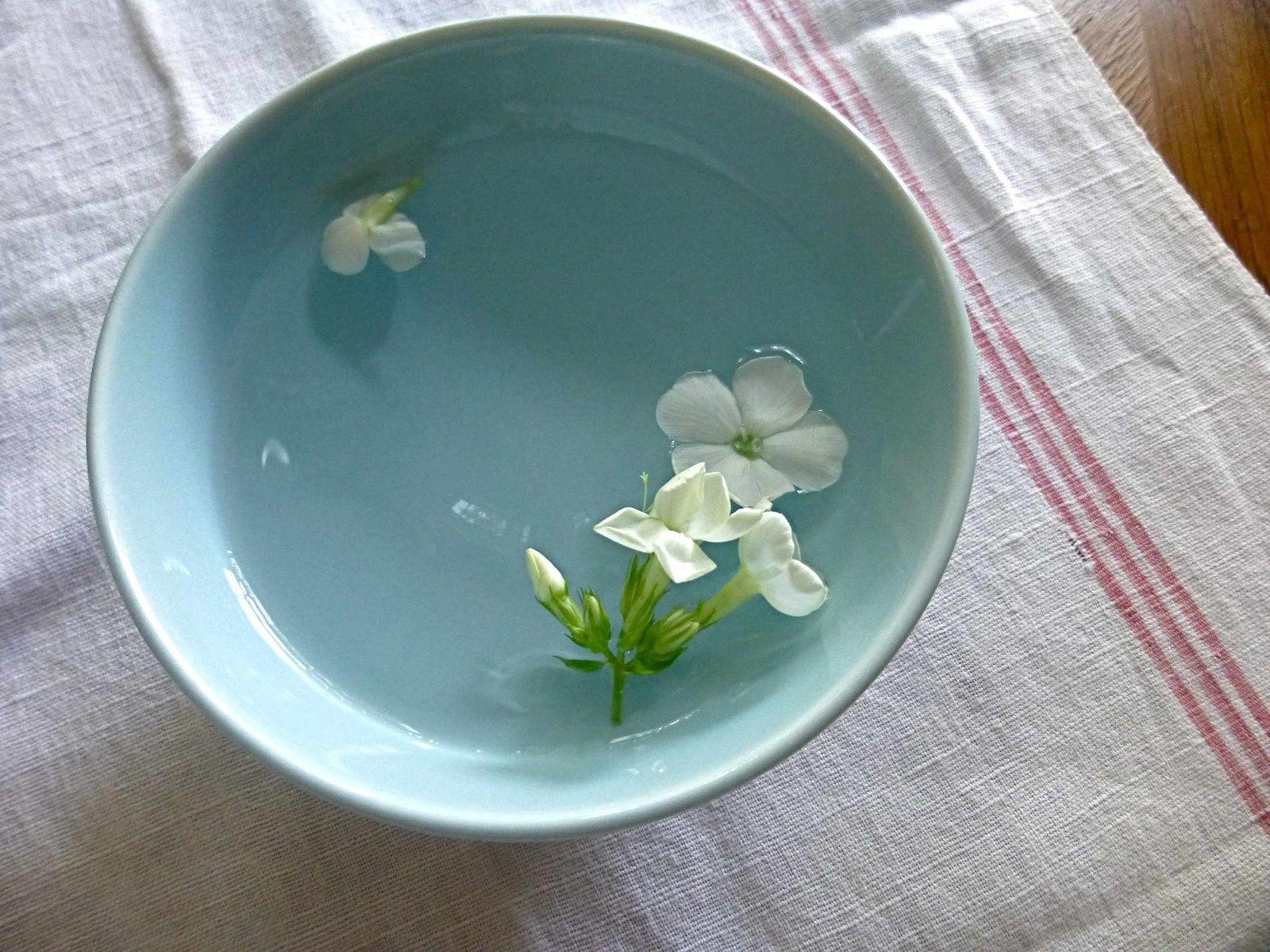 """Quelques fleurs """"sauvées des eaux"""" dans mon atelier..."""