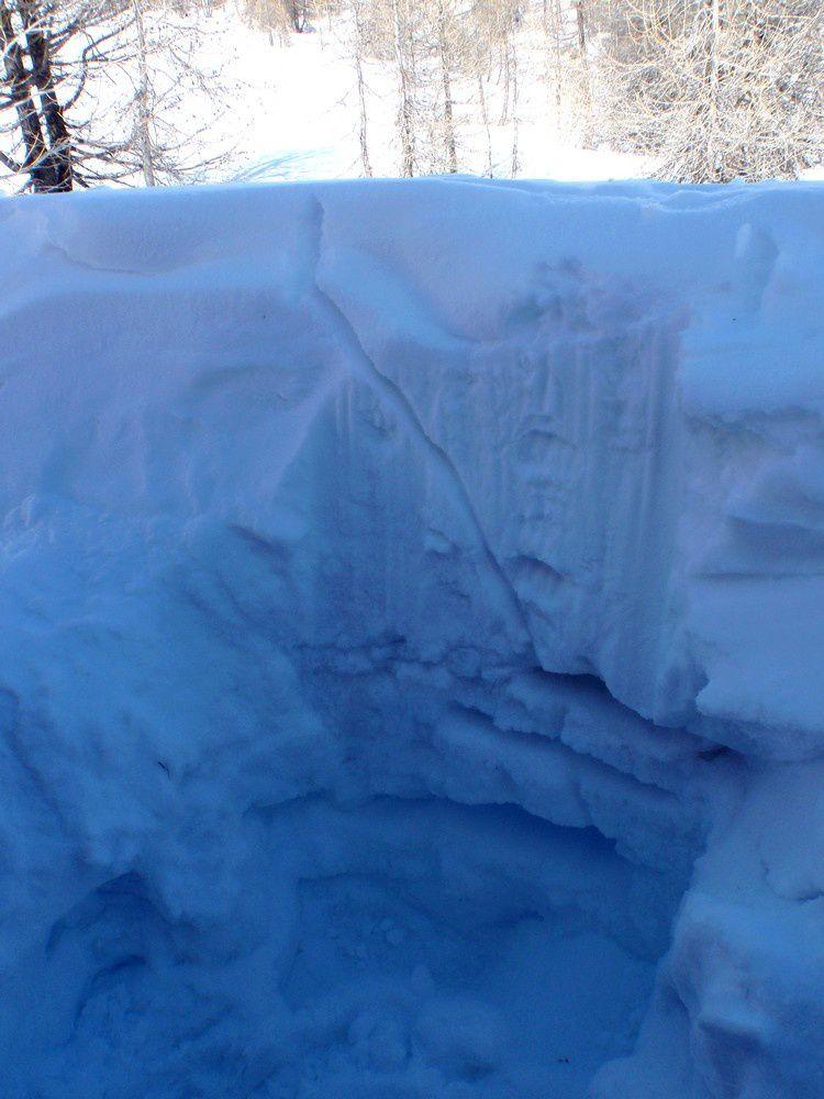 Coupe de neige avec 3 couches fragiles! Comment se forment elles? Pourquoi? Quel risque engendré?