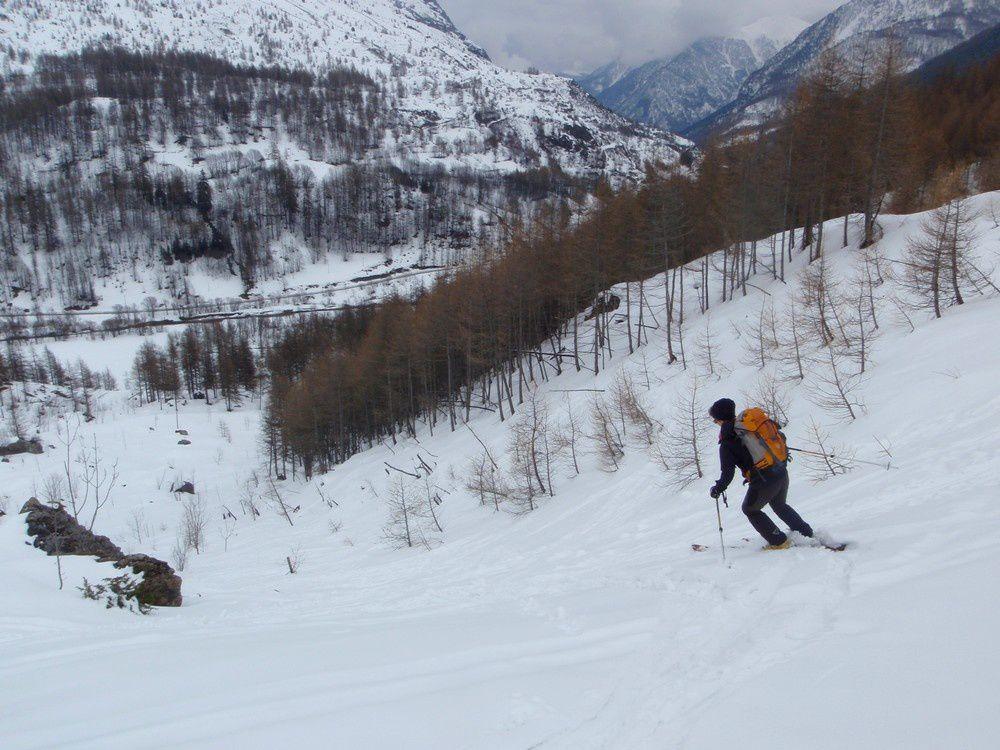 Ou ski de fond de vallée pour les jours de météo maussade. Tout est possible au val Maira!