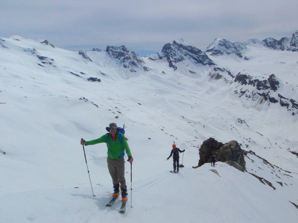 Arrivée au sommet au coeur du Val di Rheme.