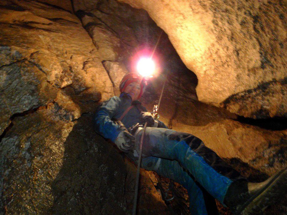 La spéléo au Marguareis est très verticale et les puits s'enchainent.