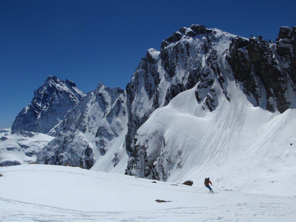 Au pied de la traversette : une abiance de haute montagne