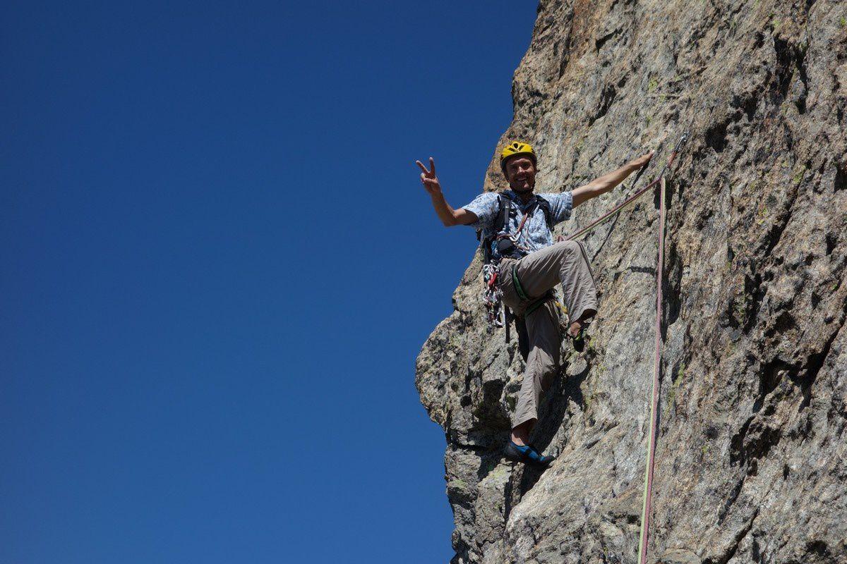 L'ambiance est détendue au possible sur le plus beau gneiss de la Cougourde