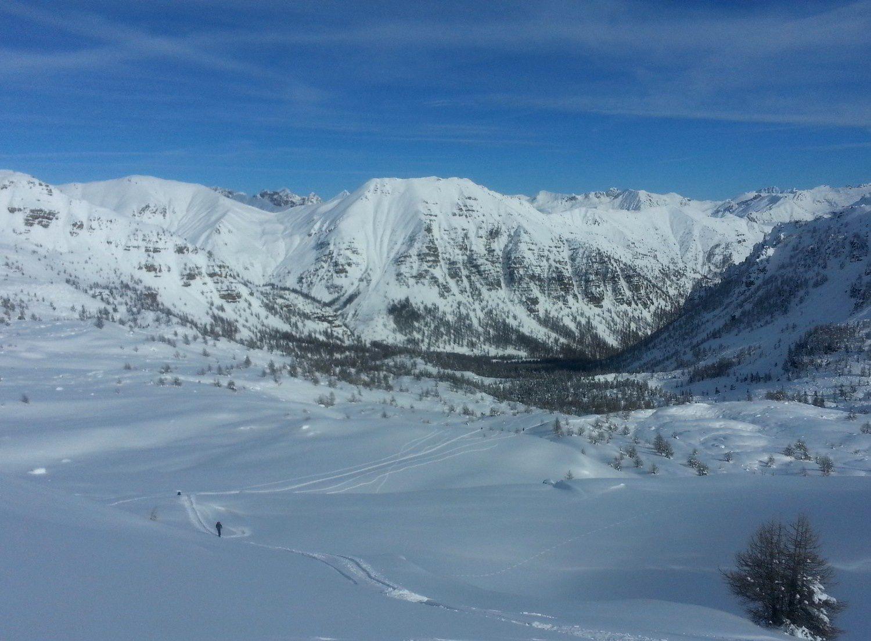Un bel eneigement c'est installé vers le col de la Braisse en une seule chute de neige.