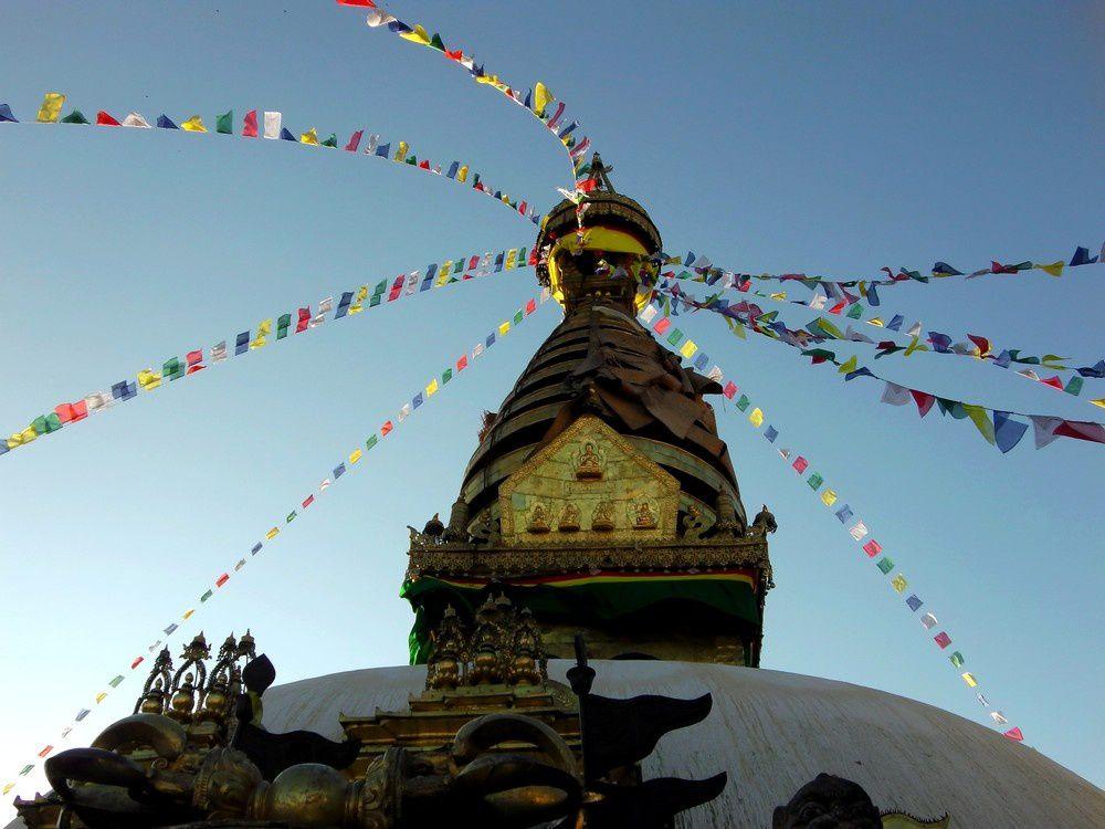 Le stupa de Bodnath à Kathmandou : un édifice grandiose rappelant que 10 % de la population népalaise pratique le bouddhisme.