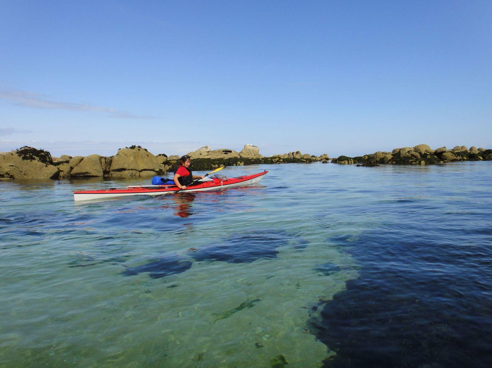 Rando kayak Saint-Pabu - Carantec 9au 13 août 2010
