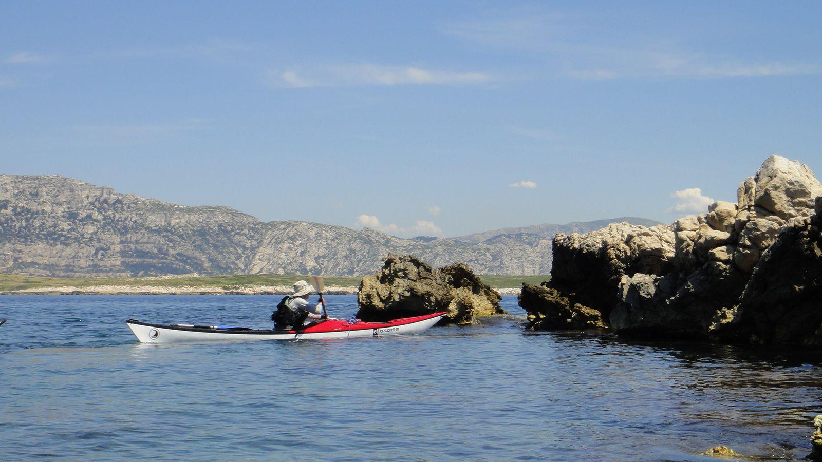 Rando kayak Calanques 2012 Jour 2 & 3 : Sormiou, Archipel Riou, Cap Croisette, Les Goudes, Podestat, Cassis.