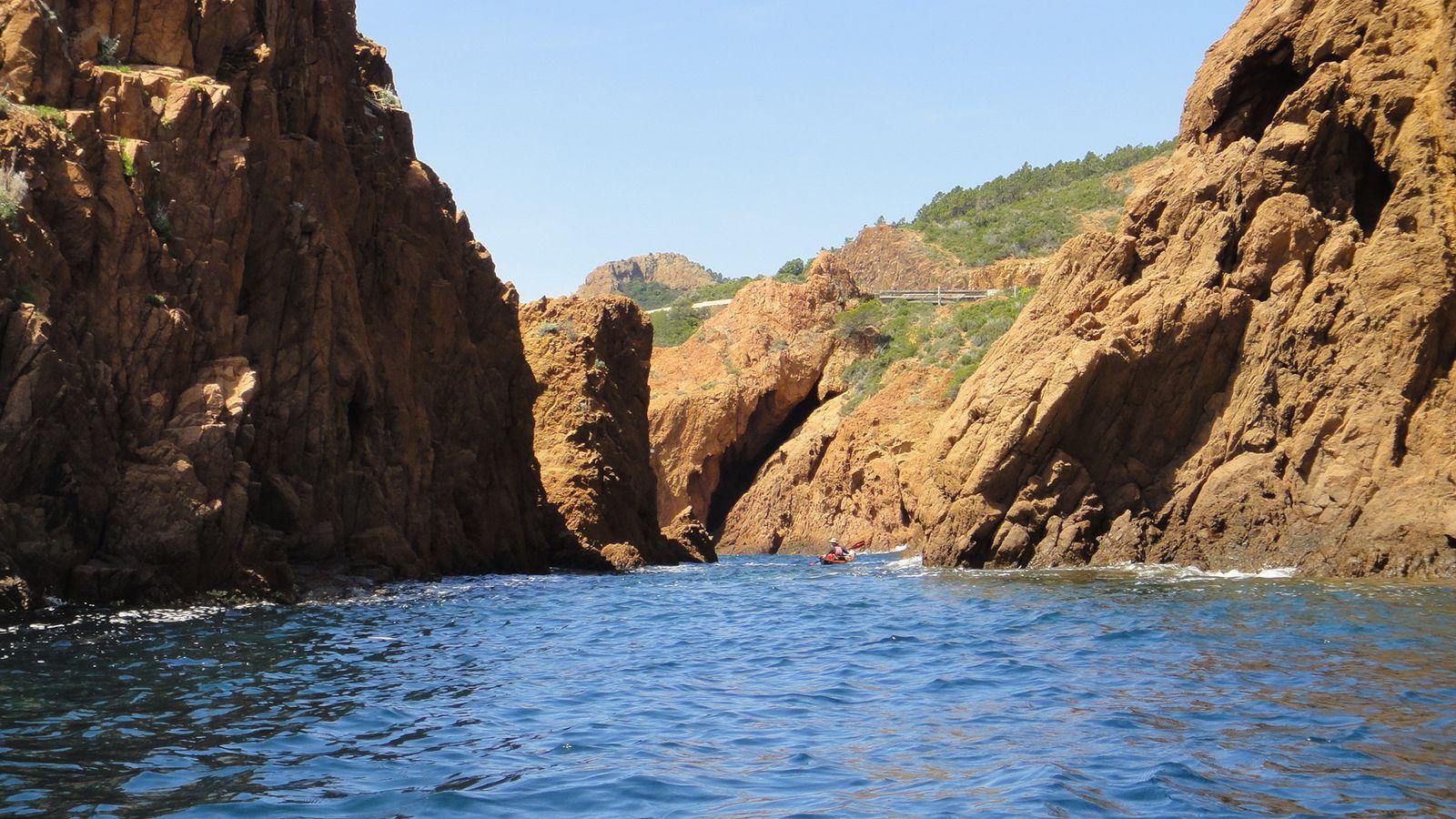 Rando kayak, la Corniche d'Or, de la Baie d'Agay à la Baie de Cannes
