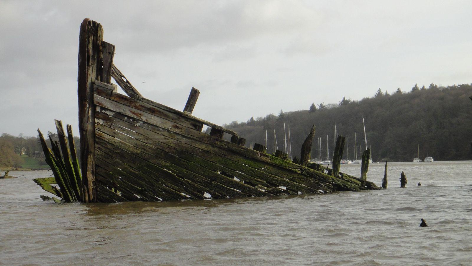 Le Blavet et le cimetière marin de Kerhervy  - Décembre 2012