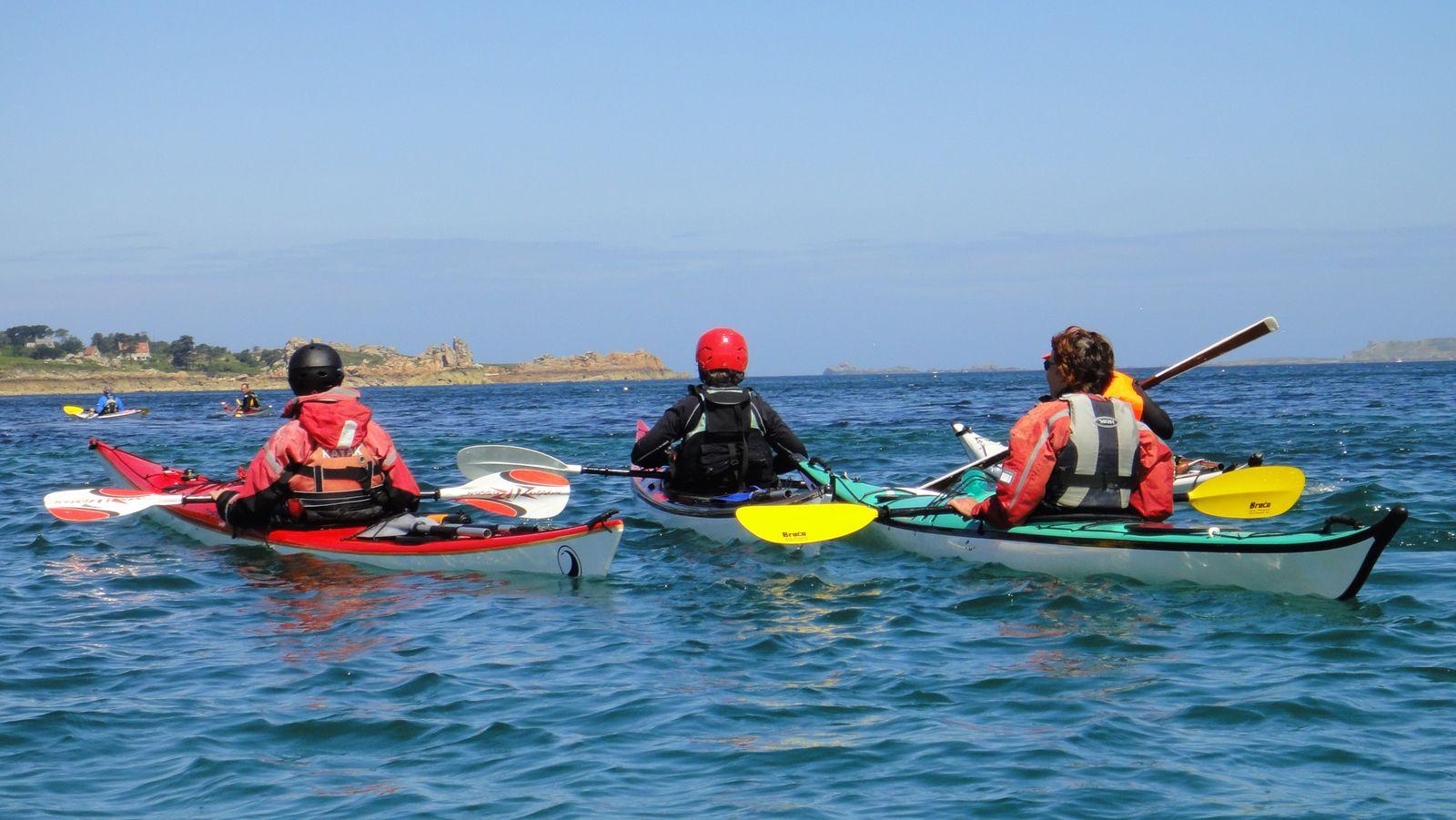 Rando kayak de Trestignel (Perros-Guirec) au phare de Mean Ruz (22)  - Dimanche 1er juillet 2012