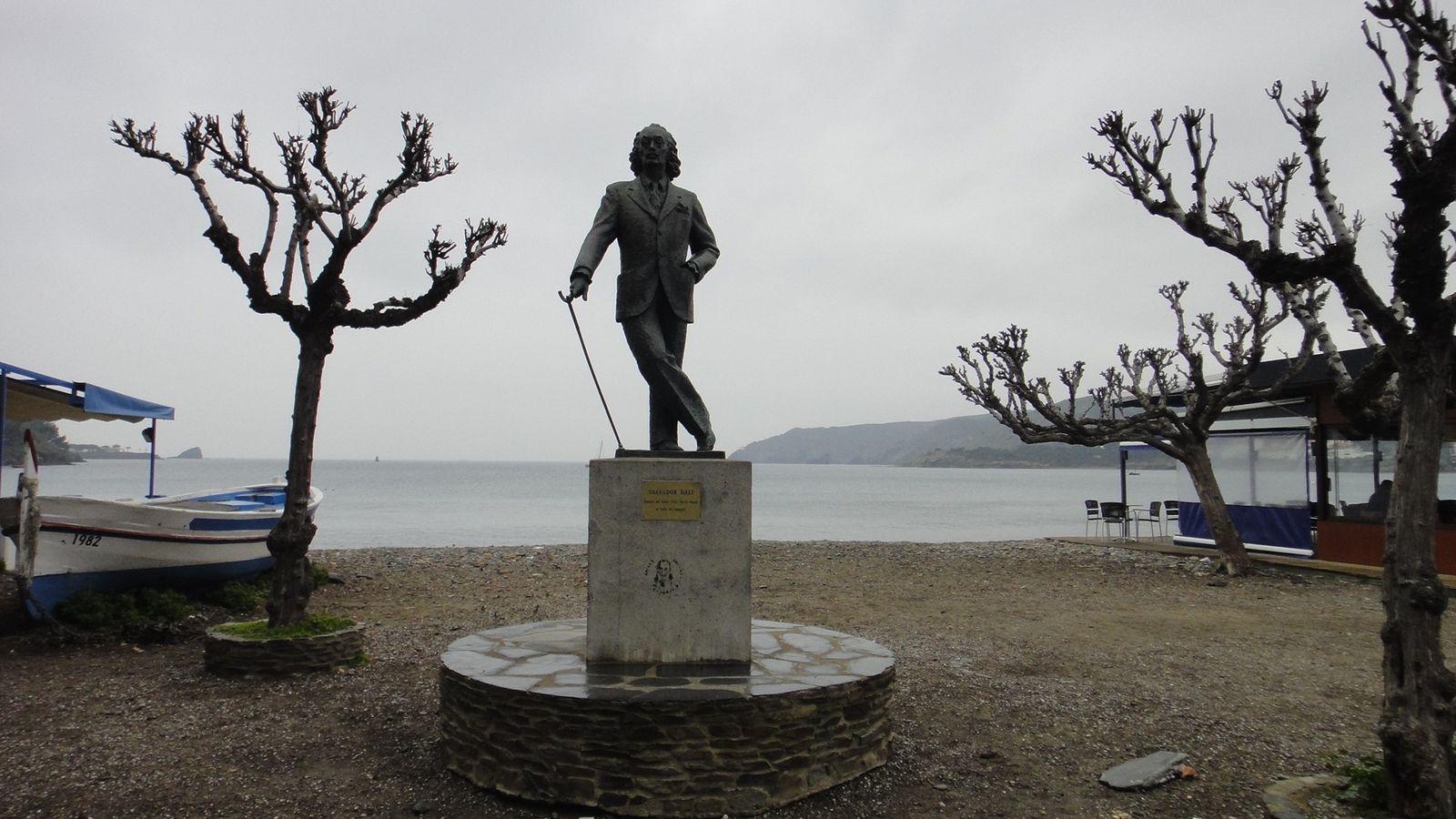 Statue de Dali à Cadaques