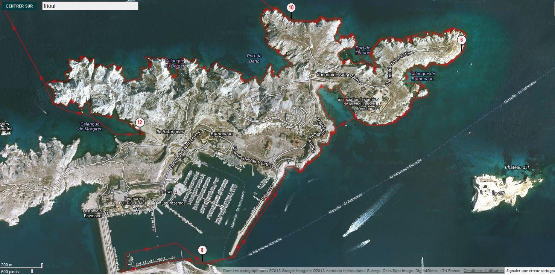 Distance parcourue : environ 17,5 miles nautiques