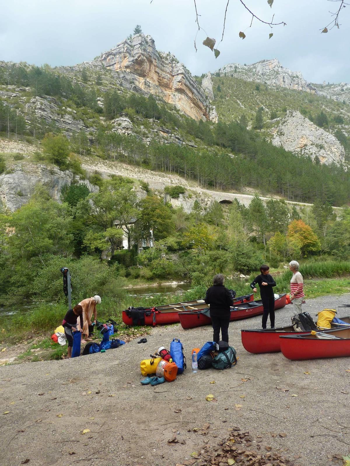 Aventures cévenoles (2) : Canoë sur le Tarn, jour 1