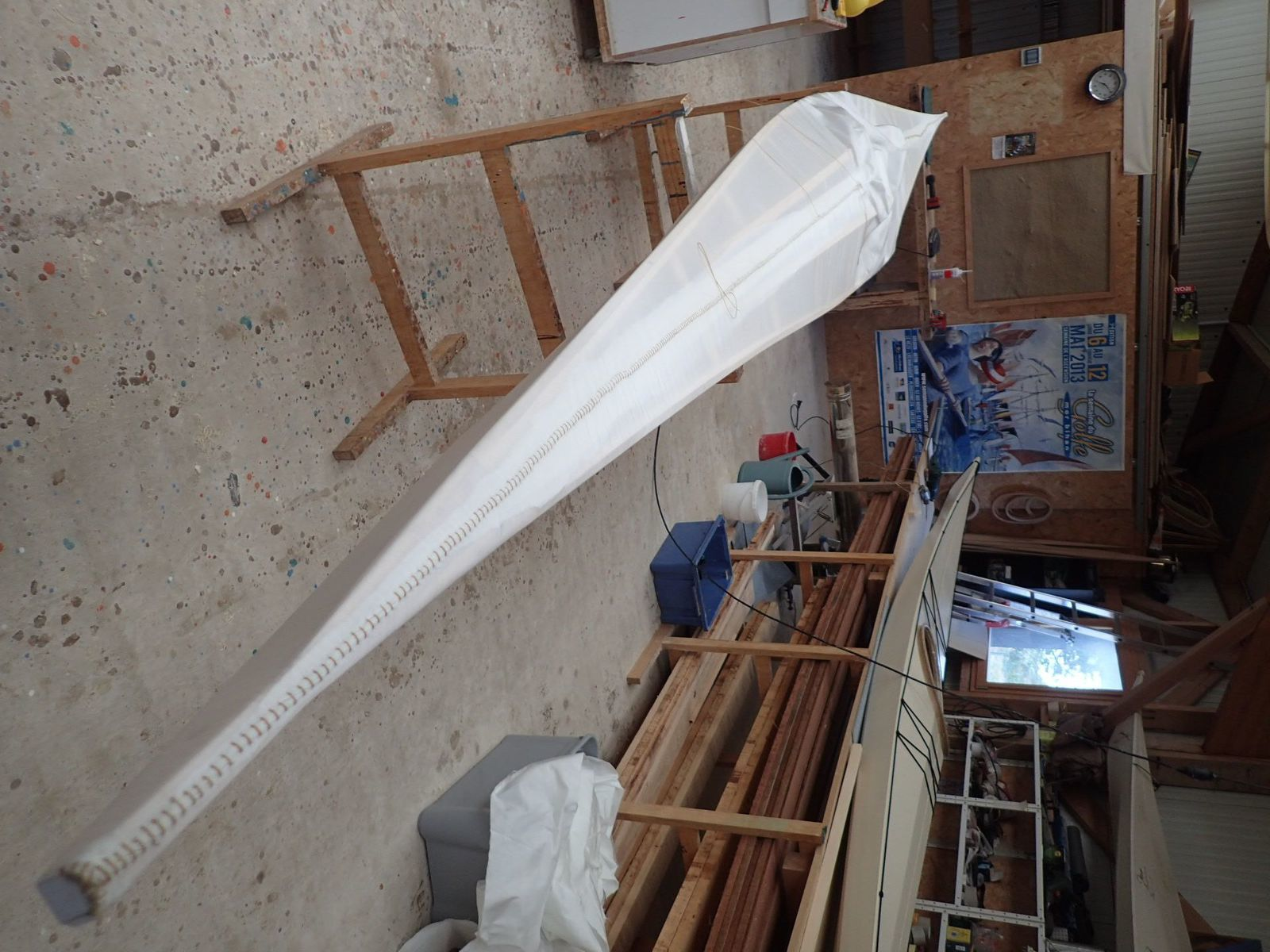 Construction d'un kayak bois & toile (skin on frame)