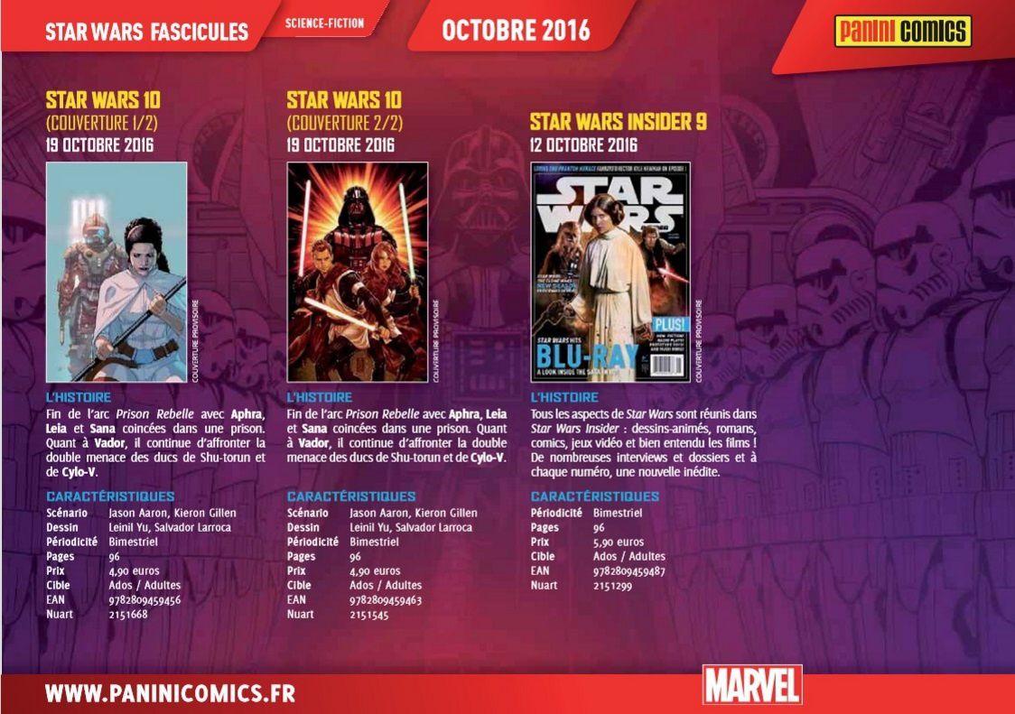 All-New All-Different les kiosques Panini d'Octobre 2016