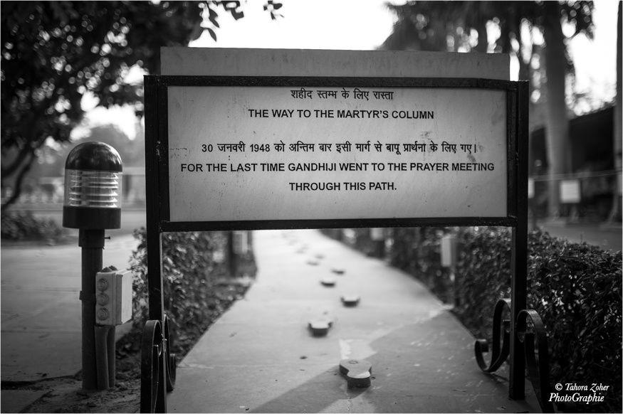 © T.Zoher PhotoGraphie - Les derniers pas où Gandhi fût assassiné à Delhi le 30 janvier 1948, Gandhi Smriti museum dedicated to Mahatma Gandhi / New Delhi, India -