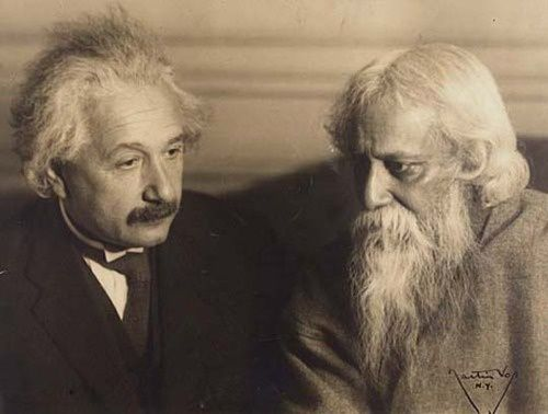 Photographie source internet : Einstein & Tagore