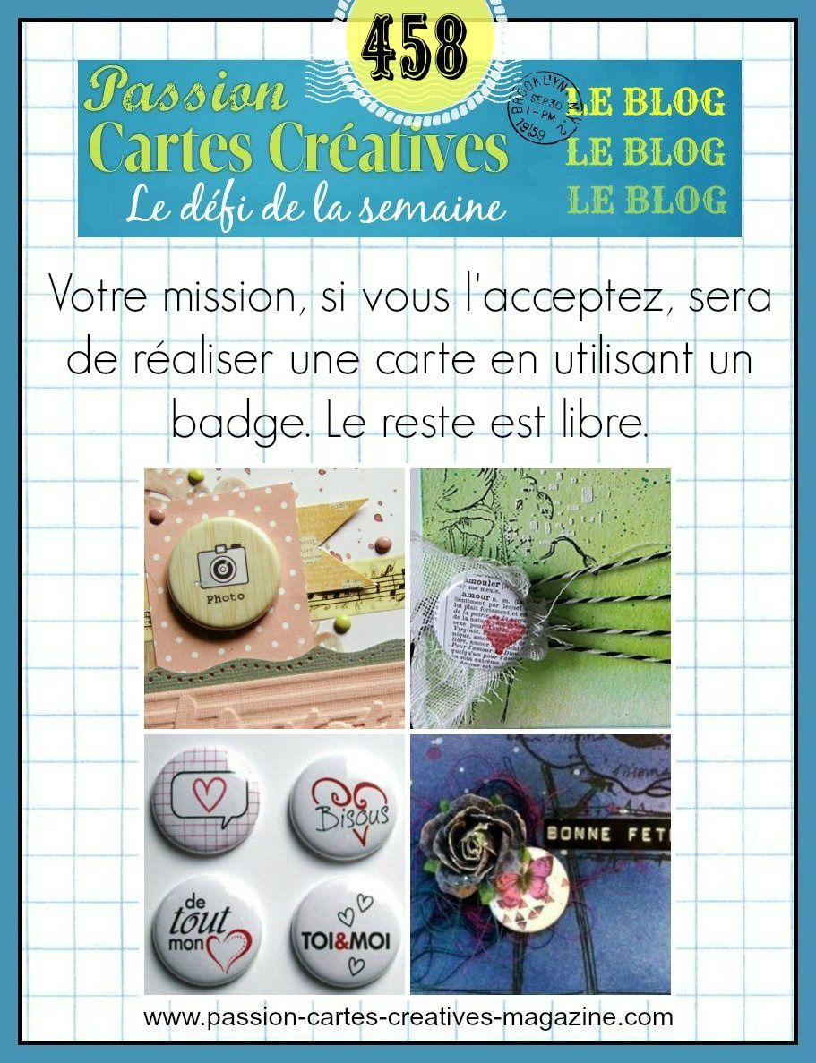 Défi 458 de Passion Cartes Créatives