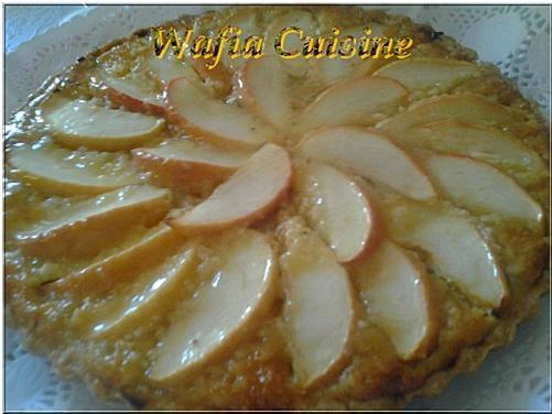 Tarte aux pommes a la crème d'amandes