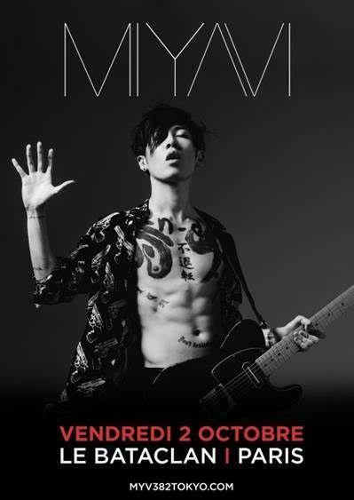 Miyavi: trois dates de concerts en France à l'automne 2015