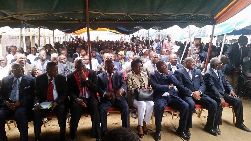 Clôture du Dialogue Alternatif des forces vives opposées au changement de la constitution du 20 janvier 2002 ce mercredi 29 juillet 2015 au siège de l'UPADS à DIATA (Brazzaville).