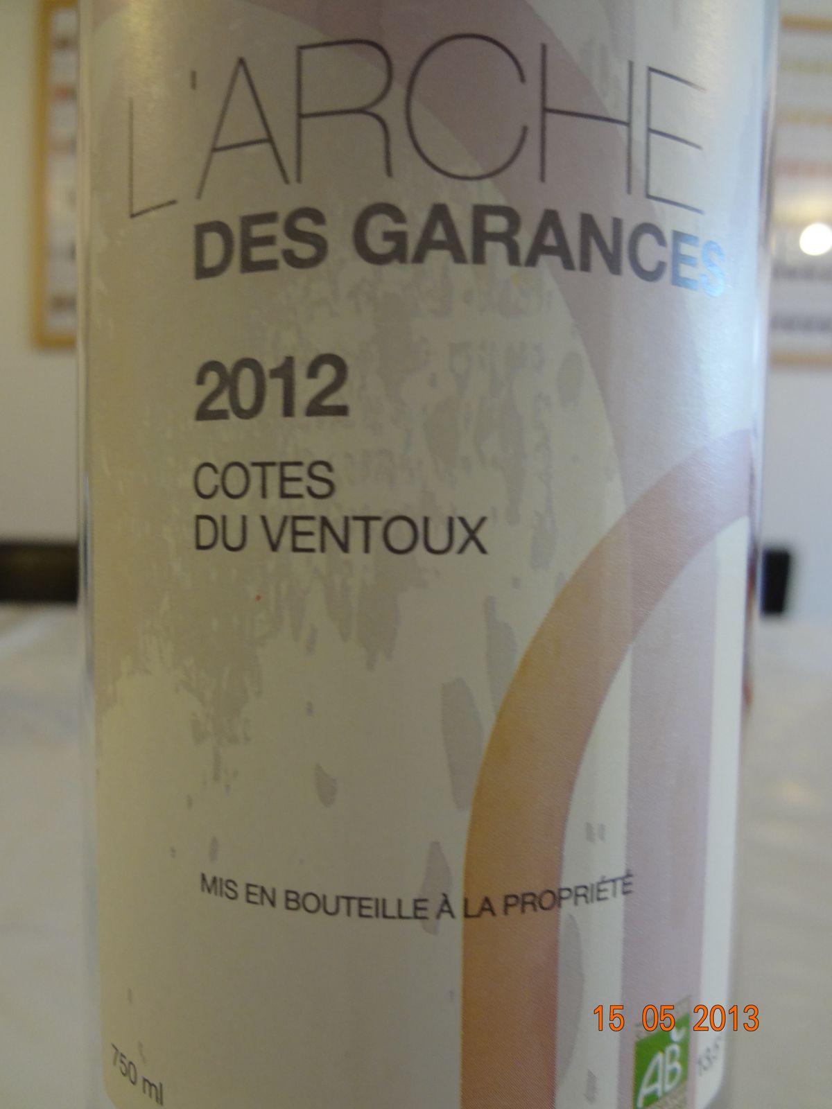 Côtes du ventoux Rosé 2012