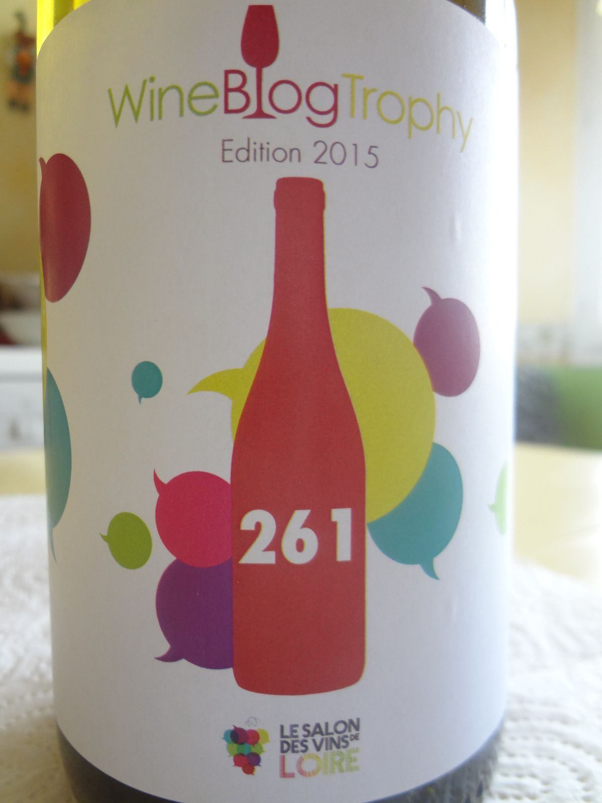Wine Blog Trophy 2015. Bouteille n° 261 - Luc Chatain- Vino Passion.
