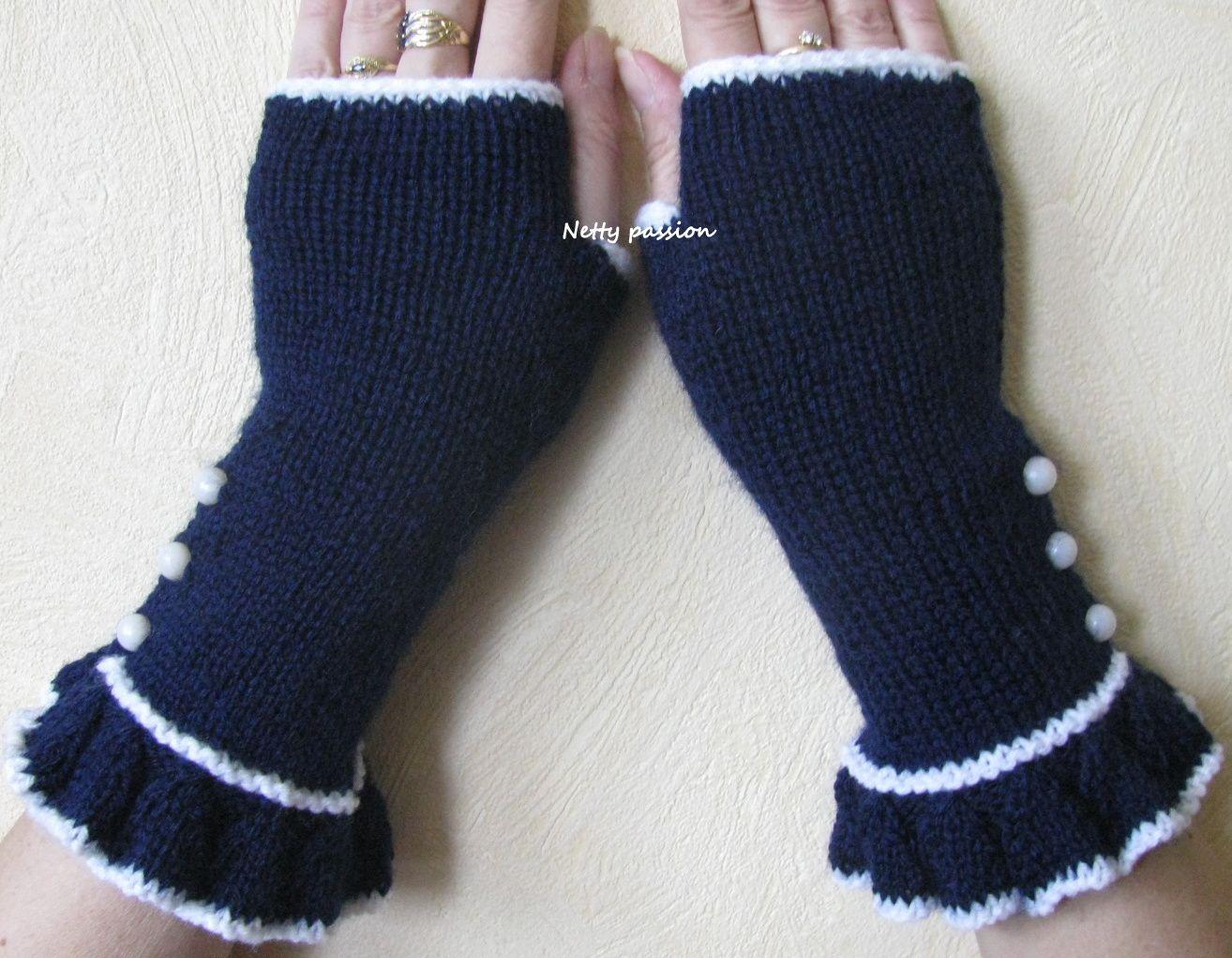 Mitaines au tricot