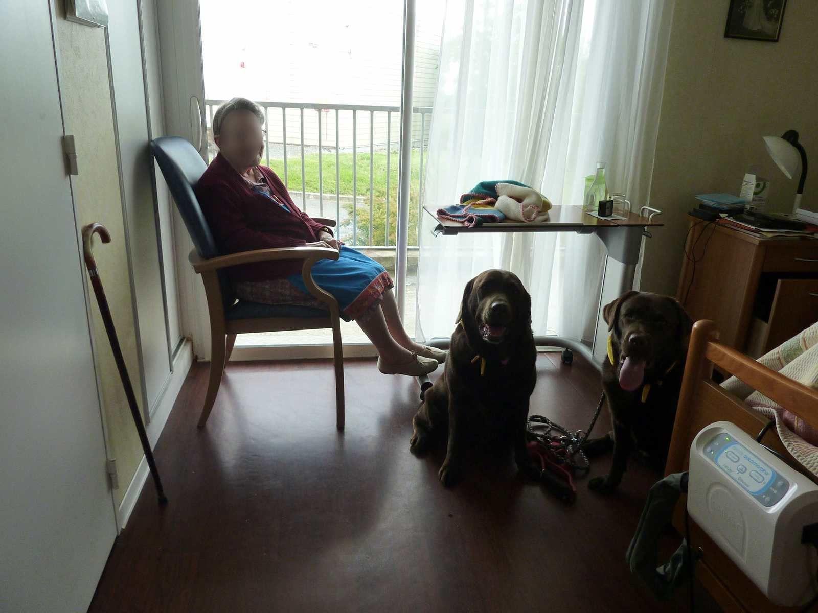 Visite de mai à la maison de retraite de Goûts.