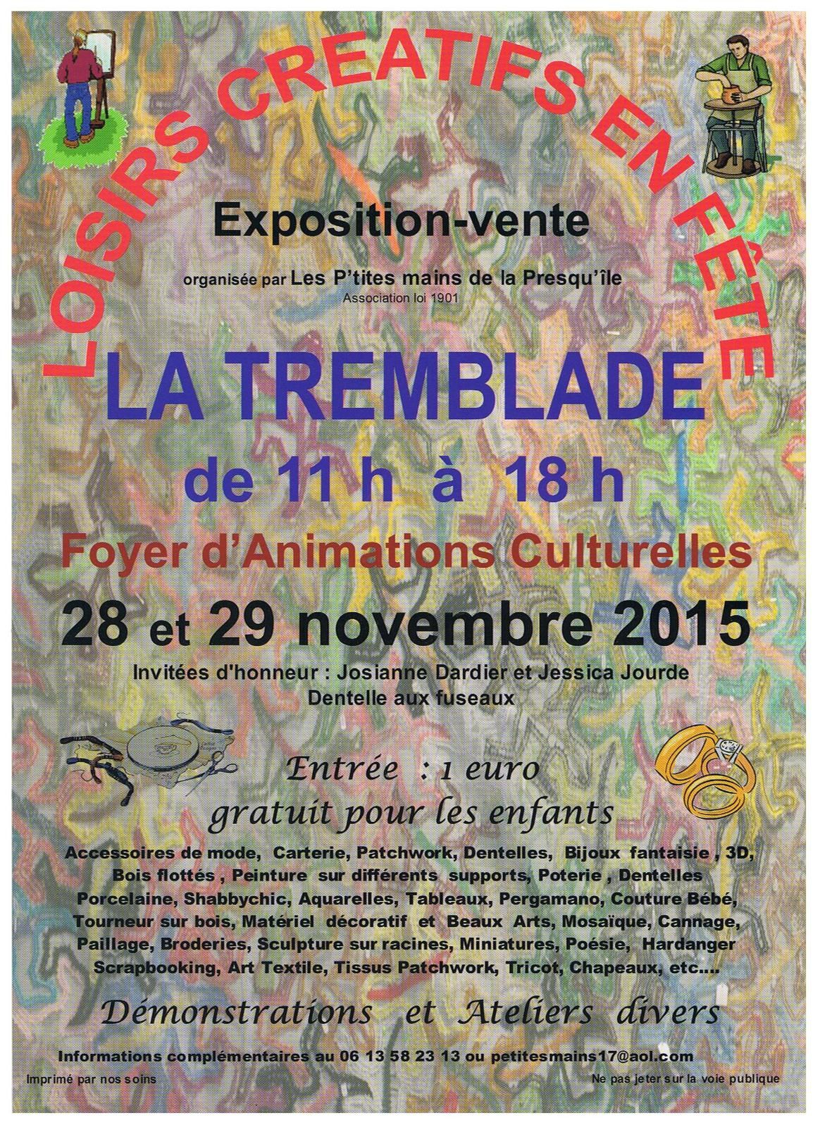 Salon d 39 art creatif en charente maritime la tremblade for Salon art creatif paris