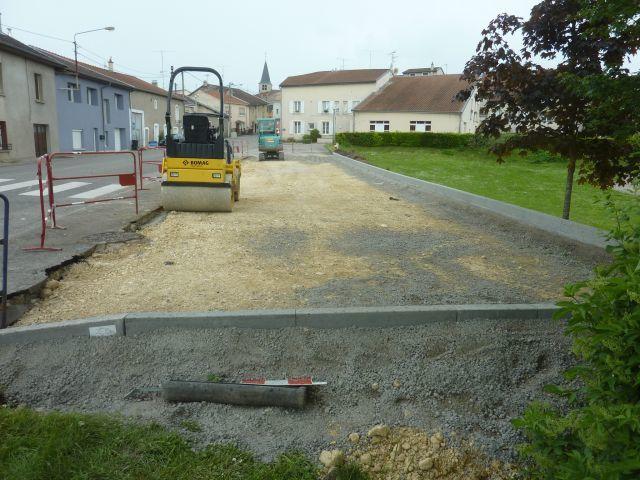Construction du parking de la Grande Rue : avant, après.