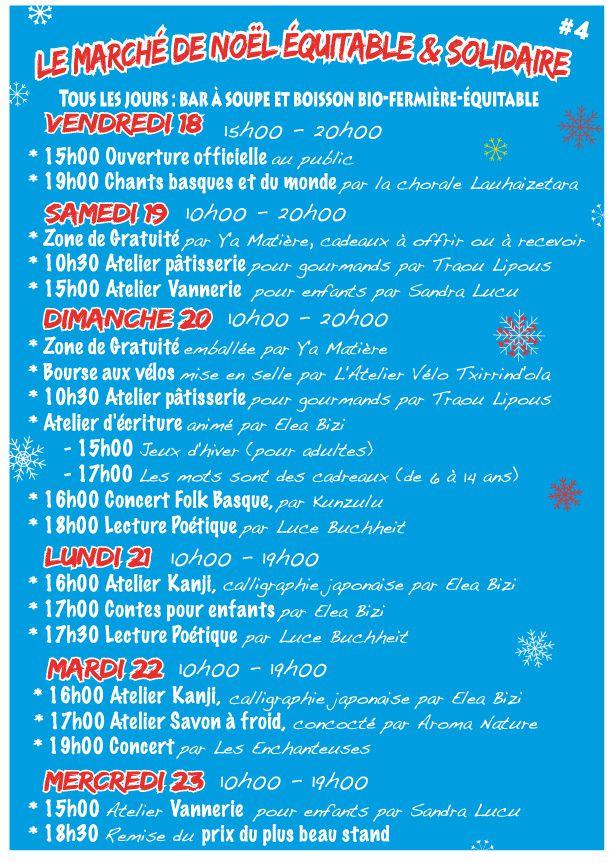 Marché de Noël équitable à Bayonne
