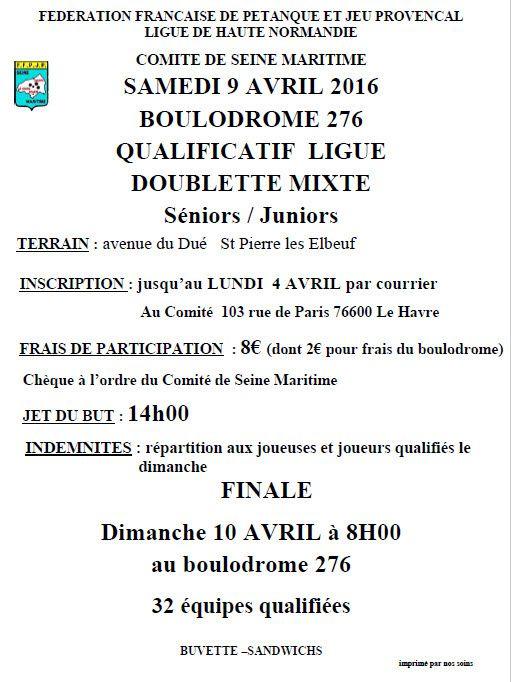 2016-04-09 St Pierre qualif Ligue Doublette Mixte