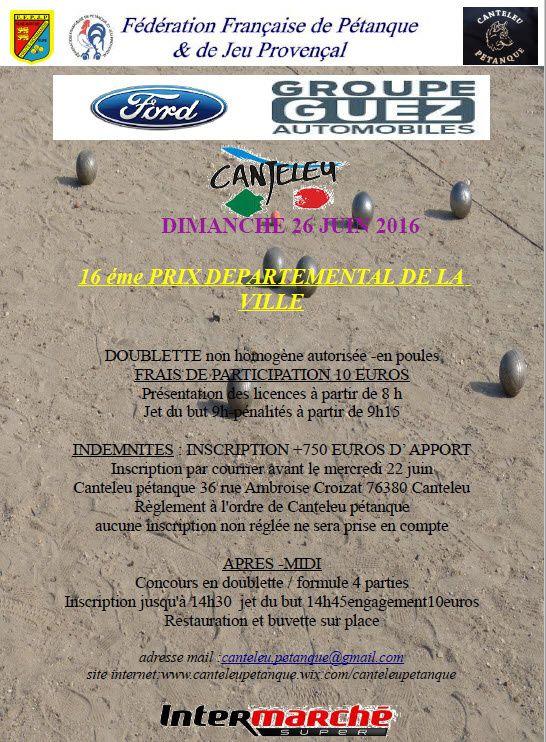 2016-06-26 Canteleu 16 ème Prix Départemental  Doublette