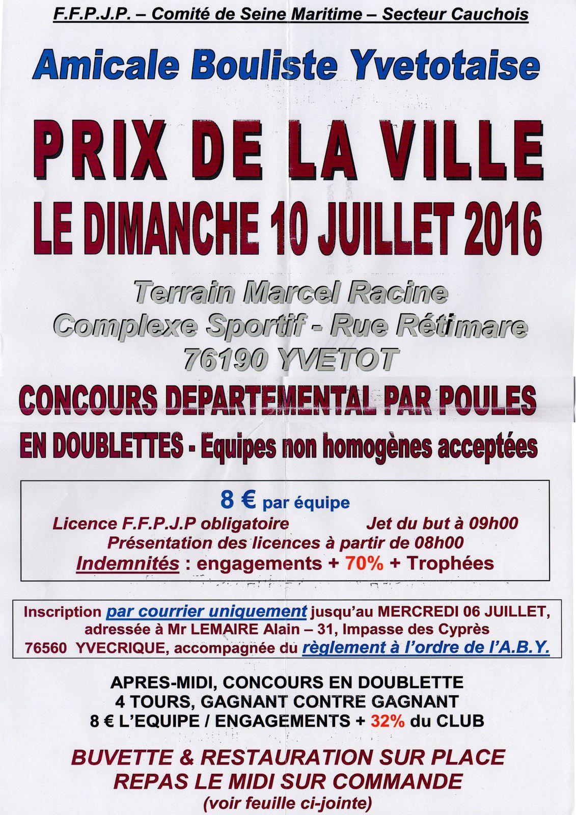 2016-07-10 Yvetot - Doublette - Prix de la Ville