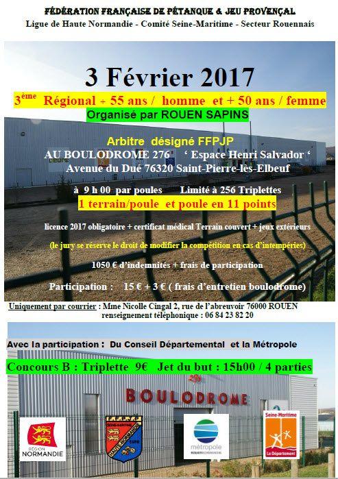 2017-02-03 St Pierre Régional Triplette +55 ans