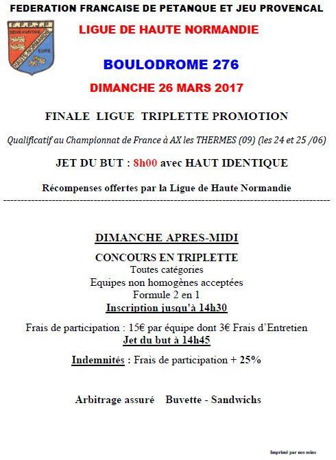 2017-03-26 St Pierre Finale Ligue Triplette Promotion