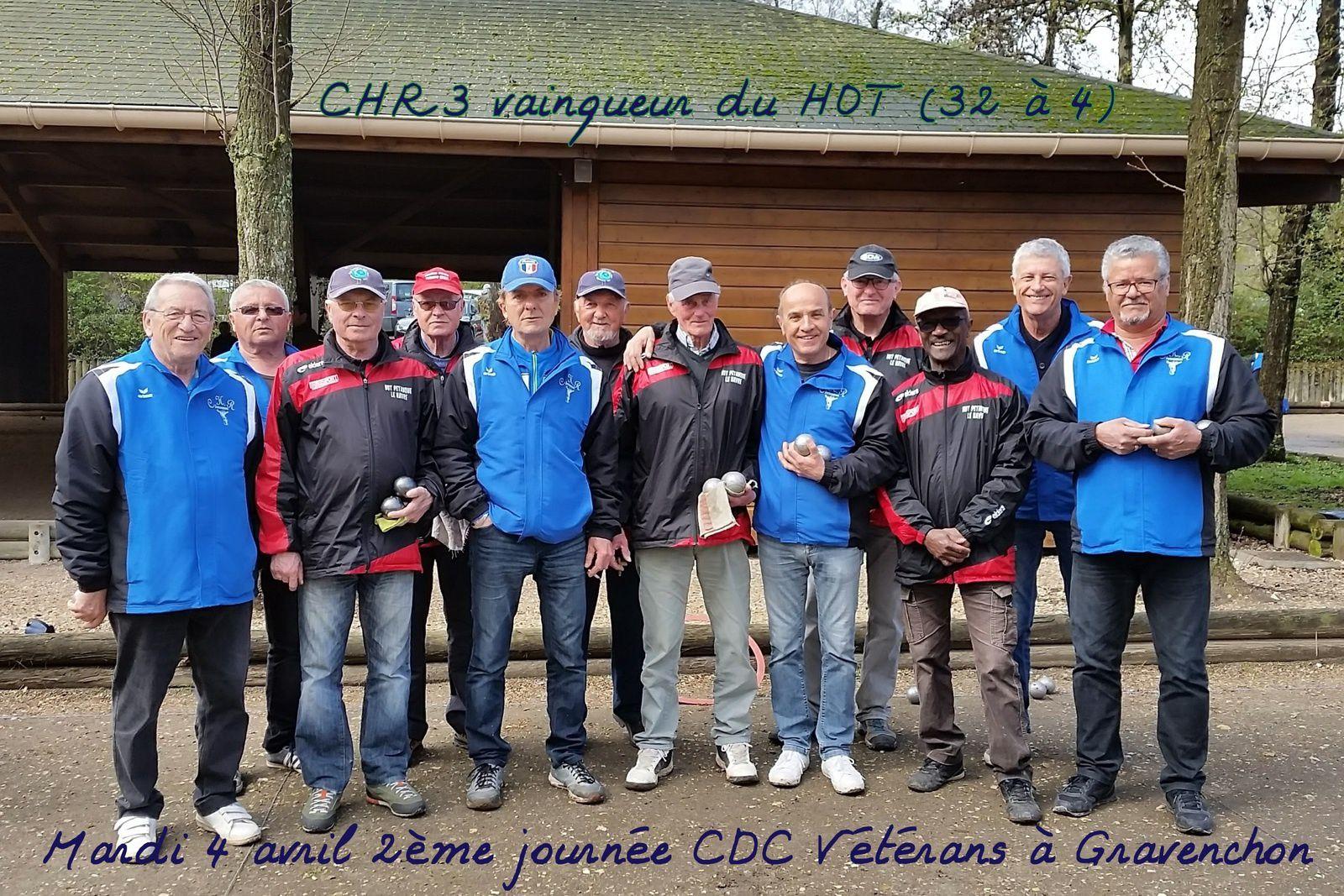 Mardi 4 avril 2ème journée CDC Vétérans à Gravenchon