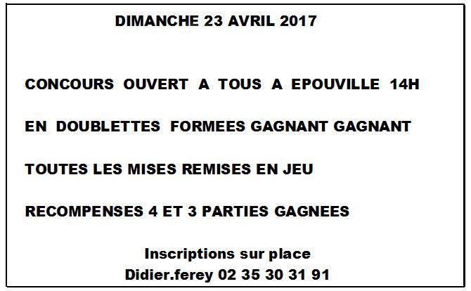 2017-04-23 Epouville Ouvert à tous Doublette Formée